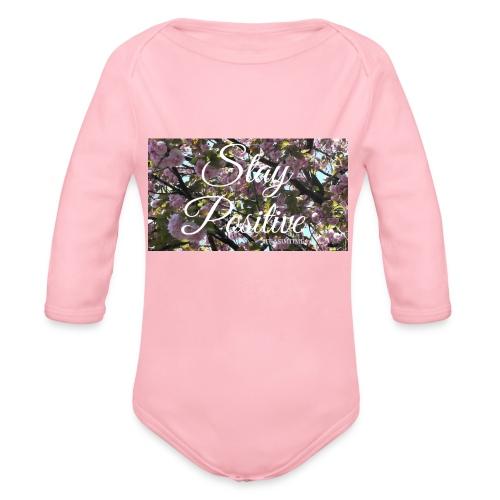 STAY POSITIVE #FRASIMTIME - Body ecologico per neonato a manica lunga