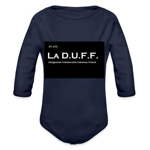 Je Suis... La D.U.F.F. - Baby bio-rompertje met lange mouwen