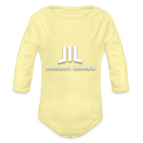 Magma Games t-shirt grijs - Baby bio-rompertje met lange mouwen
