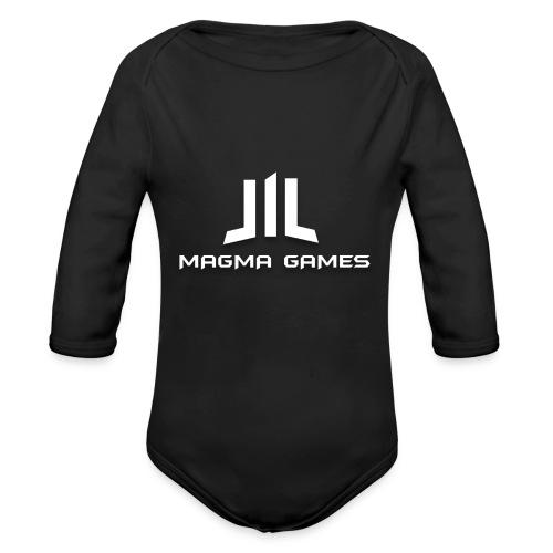 Magma Games mok zwart met - Baby bio-rompertje met lange mouwen