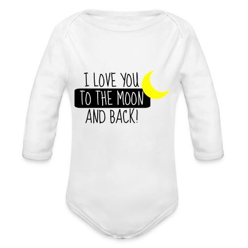 moon - Baby Bio-Langarm-Body