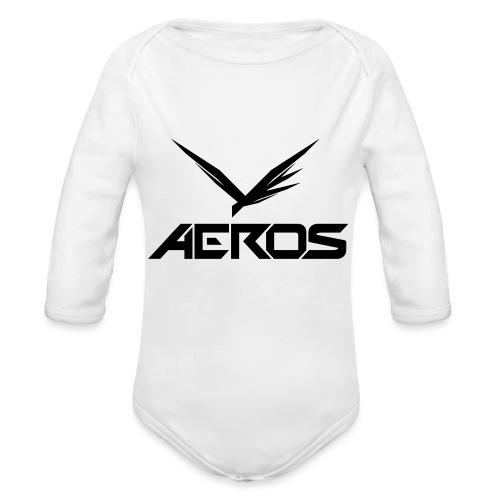 Aeros LOGO 2016 final - Baby bio-rompertje met lange mouwen