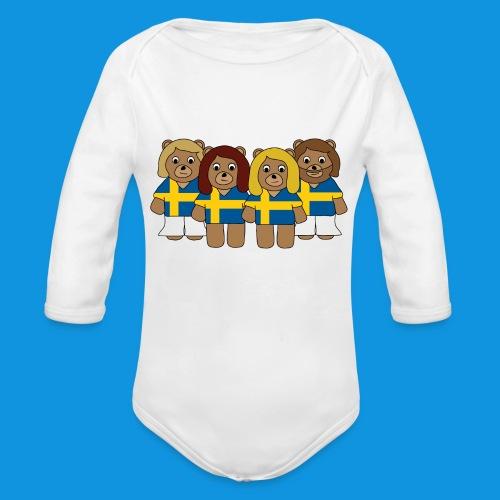 Abba Sweden Bears.png - Organic Longsleeve Baby Bodysuit
