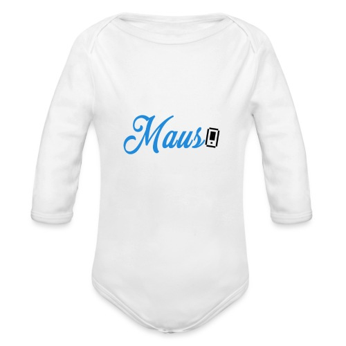 Hoesje MAUS 8Bit Blauw - Baby bio-rompertje met lange mouwen