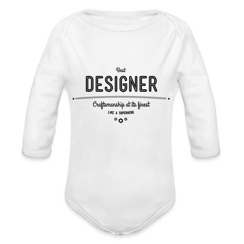 Bester Designer - Handwerkskunst vom Feinsten, wie - Baby Bio-Langarm-Body