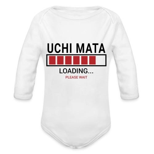 Uchi Mata loading... pleas wait - Ekologiczne body niemowlęce z długim rękawem