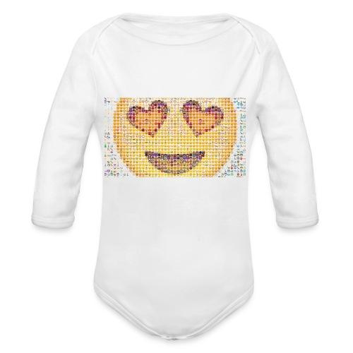 Emoij Hoesje - Baby bio-rompertje met lange mouwen