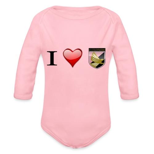 I Love Palermo - Body ecologico per neonato a manica lunga