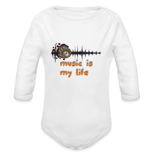 Music is my Life - Body ecologico per neonato a manica lunga