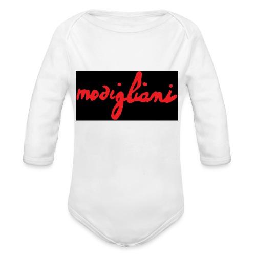 firm_red_black - Body ecologico per neonato a manica lunga