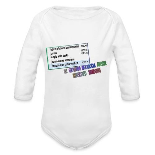 MUCIACCIA - Body ecologico per neonato a manica lunga