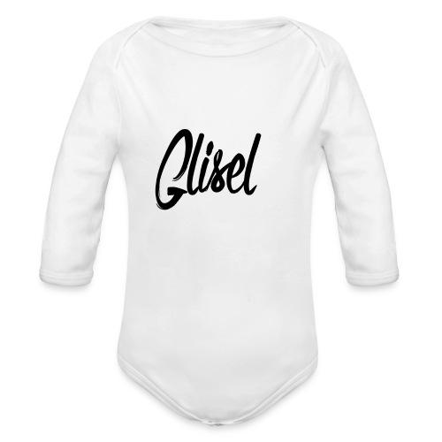 Glisel Logo schwarz transparent - Baby Bio-Langarm-Body
