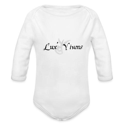 Lux' Vivens / Logo Mixte - Body Bébé bio manches longues