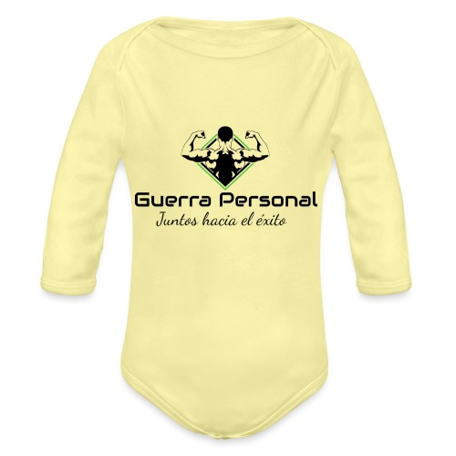 Guerra Personal - Body orgánico de manga larga para bebé