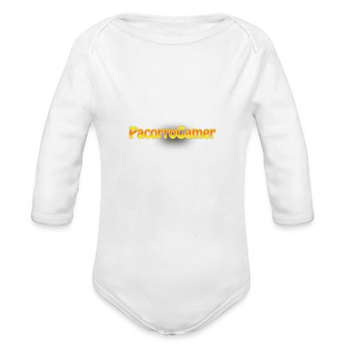 PacorroGamer logotipo de f - Body orgánico de manga larga para bebé