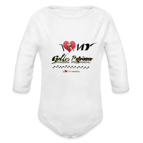 I Love my Golden Retriever - Body ecologico per neonato a manica lunga