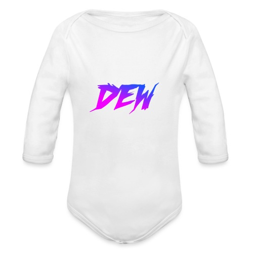Pink Blue Design - Organic Longsleeve Baby Bodysuit