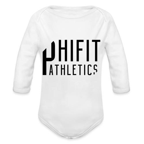 Phifit Athletics Orginal Logo Black - Baby bio-rompertje met lange mouwen