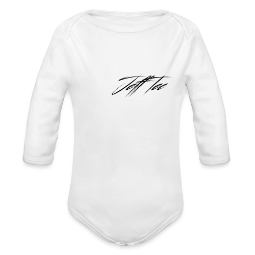 JeffTec Signature Logo White - Organic Longsleeve Baby Bodysuit