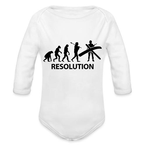 Resolution Evolution Army - Organic Longsleeve Baby Bodysuit