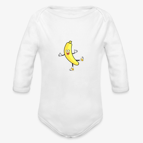 Banana - Organic Longsleeve Baby Bodysuit