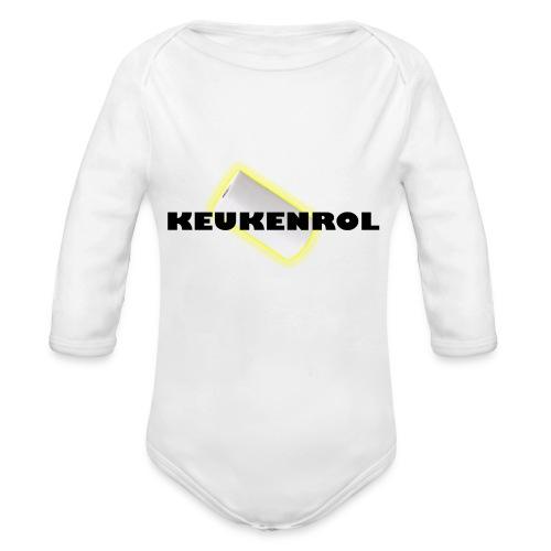Keukenrol - Baby bio-rompertje met lange mouwen