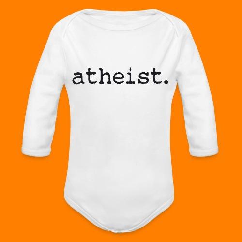 atheist BLACK - Organic Longsleeve Baby Bodysuit