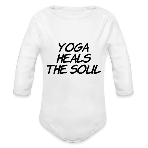 yoga - Baby bio-rompertje met lange mouwen