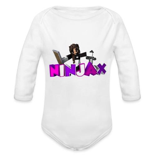 ninjax minecraft - Baby bio-rompertje met lange mouwen
