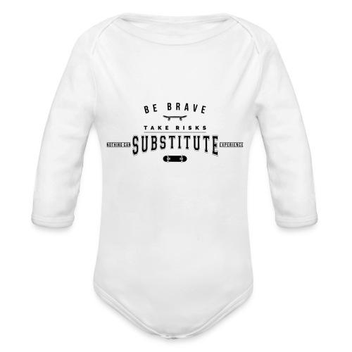 be brave - Ekologiczne body niemowlęce z długim rękawem