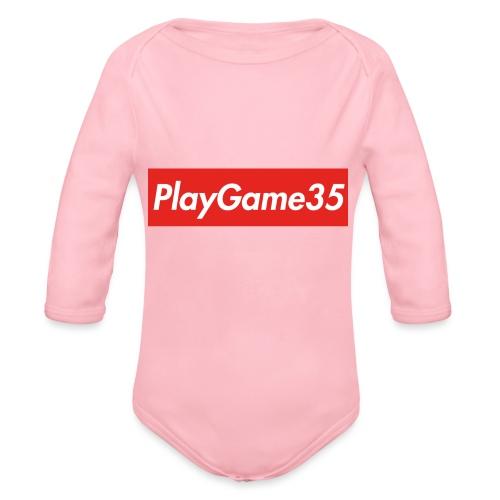 PlayGame35 - Body ecologico per neonato a manica lunga