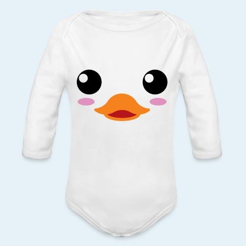Pato bebé (Cachorros) - Body orgánico de manga larga para bebé