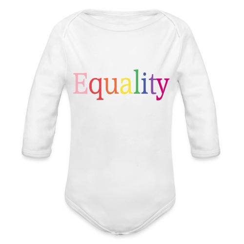 Equality | Regenbogen | LGBT | Proud - Baby Bio-Langarm-Body