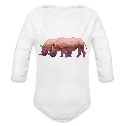 Nashorn Alpen - Baby Bio-Langarm-Body