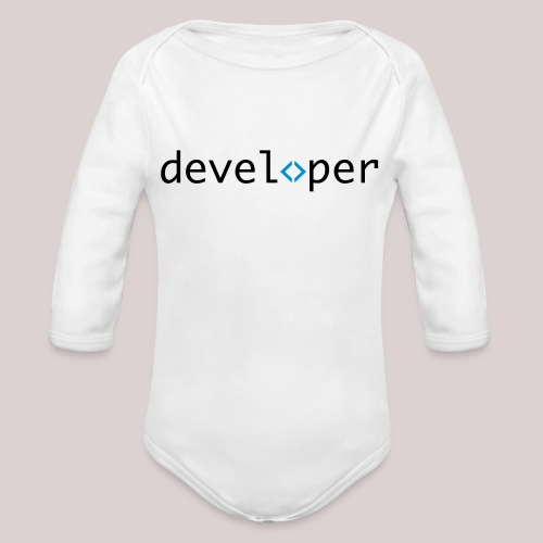 developer, coder, geek, hipster, nerd - Baby Bio-Langarm-Body