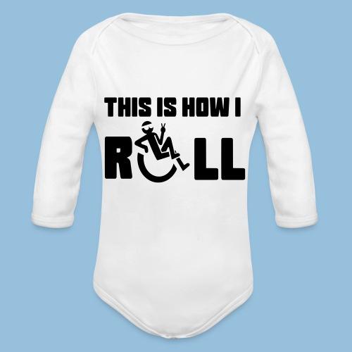 This is how i roll 006 - Baby bio-rompertje met lange mouwen