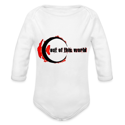 OOTW BLACK AND RED - Body ecologico per neonato a manica lunga