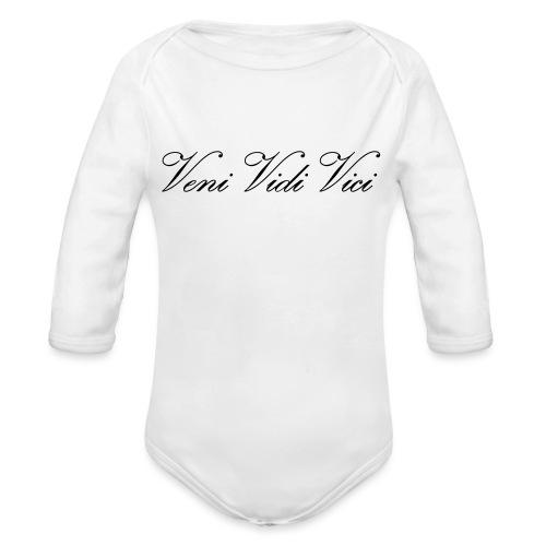 Veni Vidi Vici - Vauvan pitkähihainen luomu-body