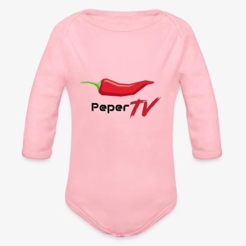 PeperTV - Baby bio-rompertje met lange mouwen