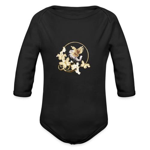 Your-Child horse - Langærmet babybody, økologisk bomuld