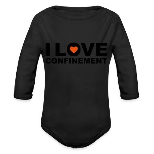 j aime le confinement - Body Bébé bio manches longues