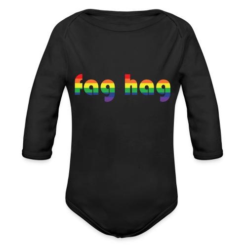 Fag Hag - Organic Longsleeve Baby Bodysuit