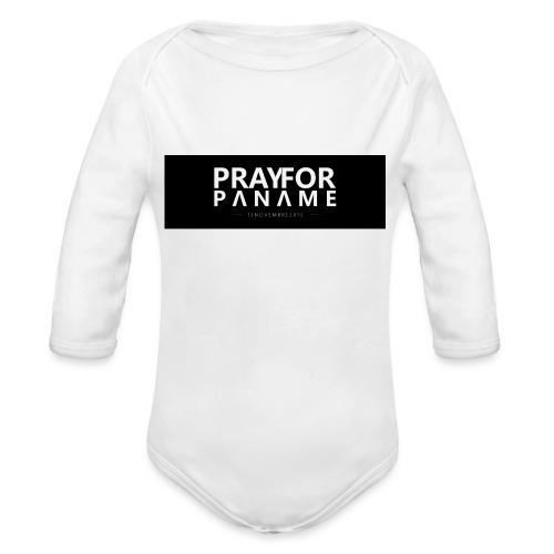 TEE-SHIRT HOMME - PRAY FOR PANAME - Body Bébé bio manches longues