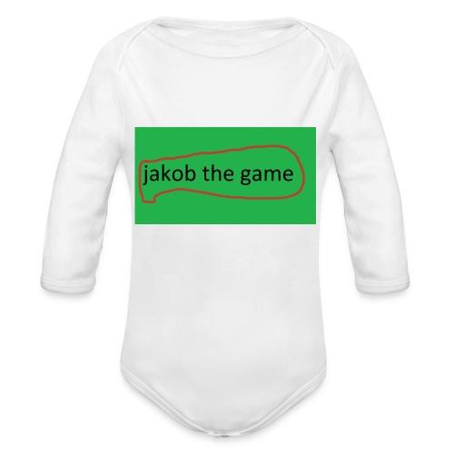 jakob the game - Langærmet babybody, økologisk bomuld