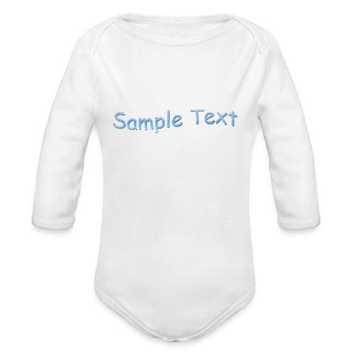 SAMPLE TEXT - Organic Longsleeve Baby Bodysuit