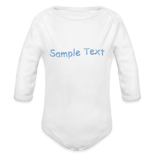 SAMPLE TEXT CAP - Organic Longsleeve Baby Bodysuit