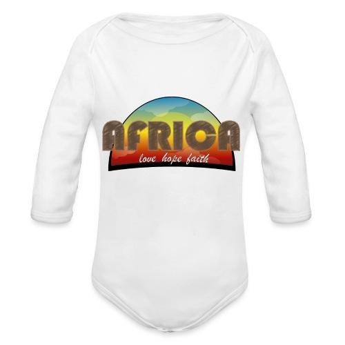 Africa_love_hope_and_faith2 - Body ecologico per neonato a manica lunga