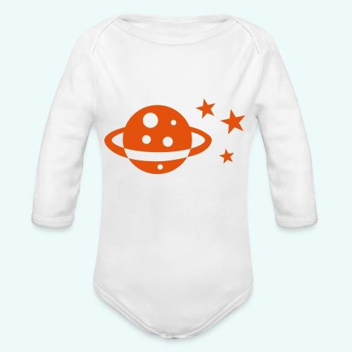 Planet Sterne - Baby Bio-Langarm-Body