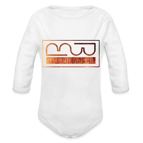 Cap logo Orange - Organic Longsleeve Baby Bodysuit