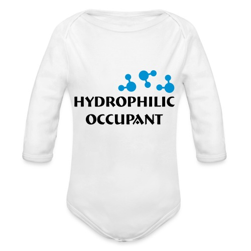 Hydrophilic Occupant (2 colour vector graphic) - Organic Longsleeve Baby Bodysuit